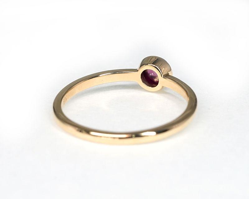 ガーネット K18リング・指輪 【情熱・愛】 petitnoel  - Clochette [送料無料]