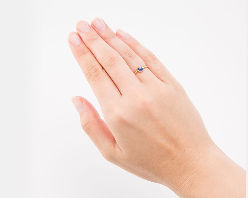 カイヤナイト K18リング・指輪 【創造力・直観力】 petitnoel  - Clochette [送料無料]