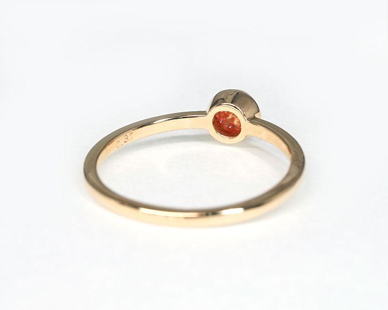 サンストーン K18リング・指輪 【成功・開花】 LUCAS  - Clochette [送料無料]