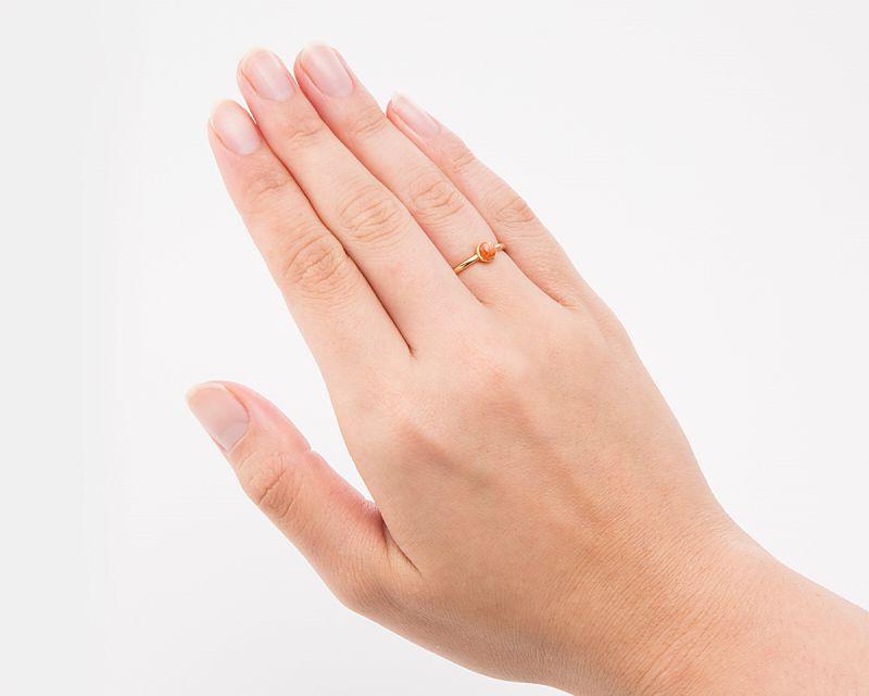 サンストーン K18リング・指輪 【成功・開花】 petitnoel  - Clochette [送料無料]