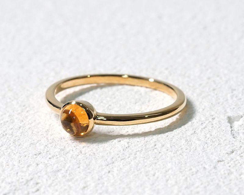 シトリン K18リング・指輪 【前向き・富】 LUCAS  - Clochette [送料無料]