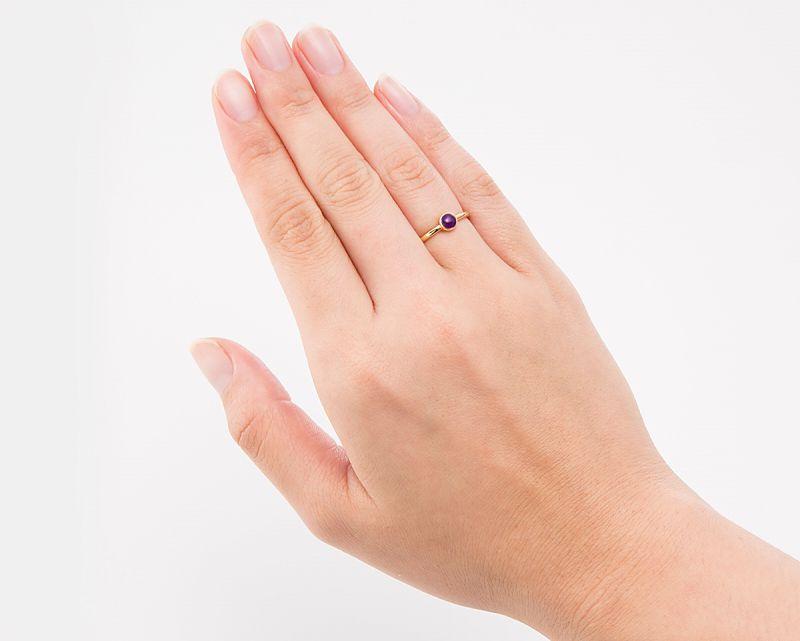 スギライト K18リング・指輪 【護符・強さ】 LUCAS  - Clochette [送料無料]