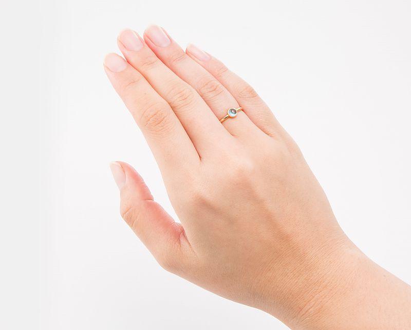 ブルートパーズ K18リング・指輪 【創造・芸術】 petitnoel  - Clochette [送料無料]