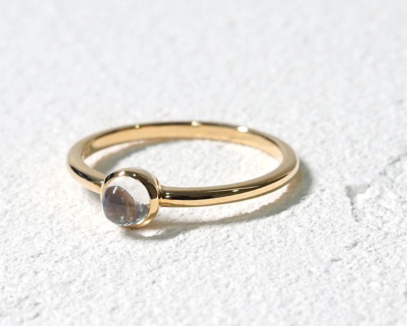 ブルームーンストーン K18リング・指輪 【モテ・異性】 petitnoel  - Clochette [送料無料]