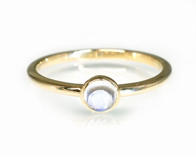 ブルームーンストーン K18リング・指輪 【モテ・異性】 LUCAS  - Clochette [送料無料]