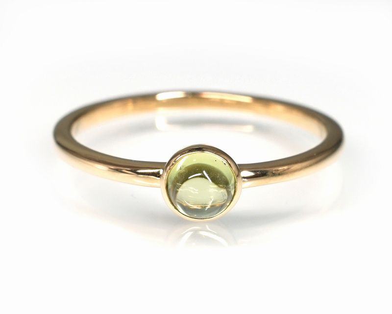 ペリドット K18リング・指輪 【ポジティブ・克服】 petitnoel  - Clochette [送料無料]