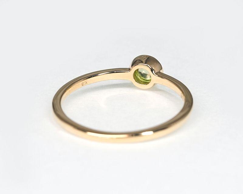ペリドット K18リング・指輪 【ポジティブ・克服】 LUCAS  - Clochette [送料無料]