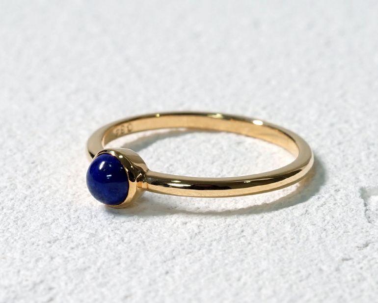 ラピスラズリ K18リング・指輪 【本気・高い次元】 petitnoel  - Clochette [送料無料]