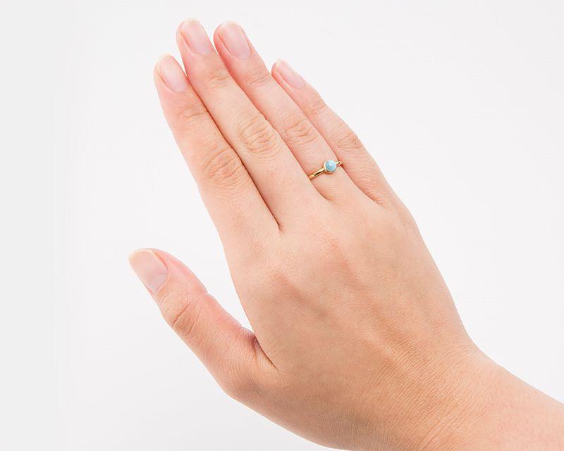 ラリマー K18リング・指輪 【平安・癒し】 LUCAS  - Clochette [送料無料]