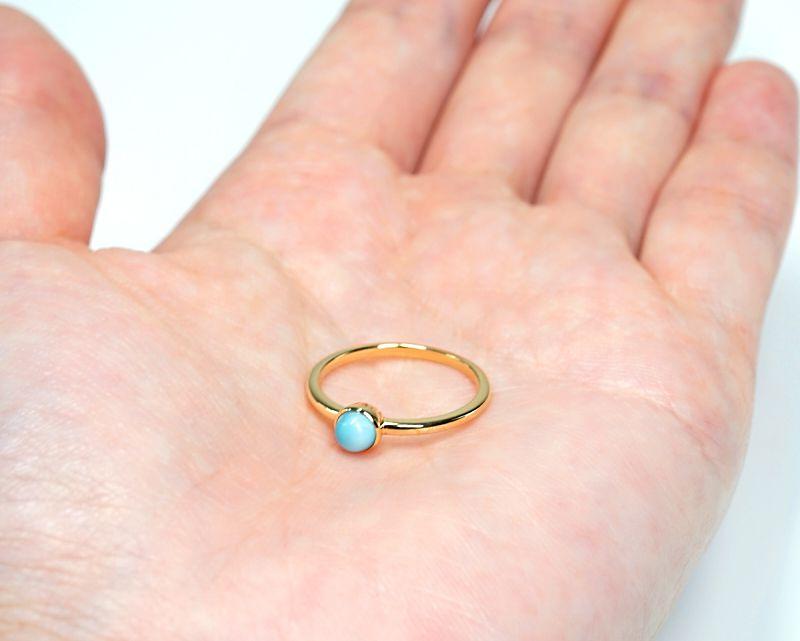 ラリマー K18リング・指輪 【平安・癒し】 petitnoel  - Clochette [送料無料]