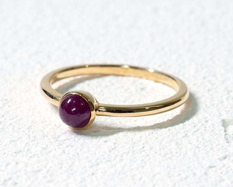 ルビー K18リング・指輪 【護符・一生の願い】 LUCAS  - Clochette [送料無料]