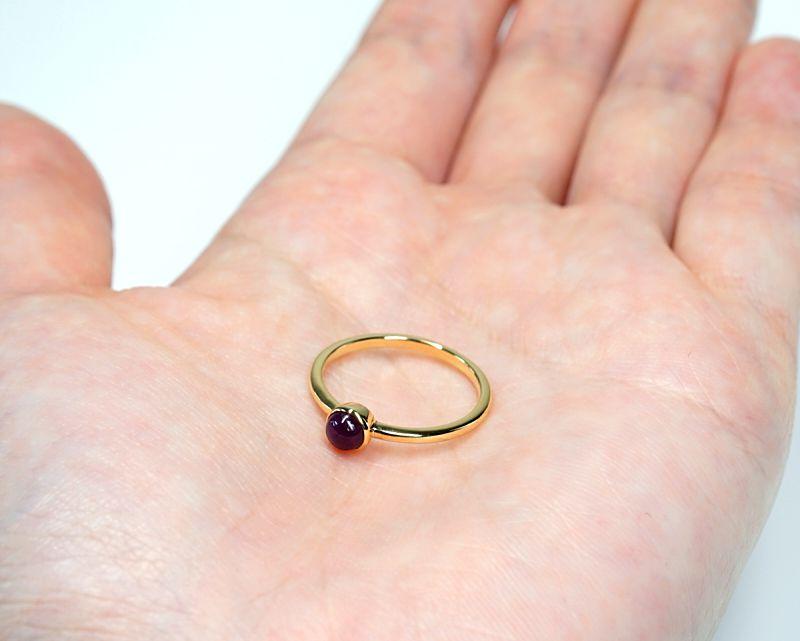 ルビー K18リング・指輪 【護符・一生の願い】 petitnoel  - Clochette [送料無料]