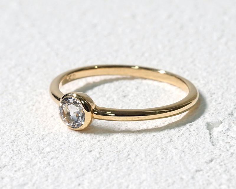 ホワイトトパーズ(カット) K18リング・指輪 【創造・芸術】 LUCAS  - Clochette [送料無料]