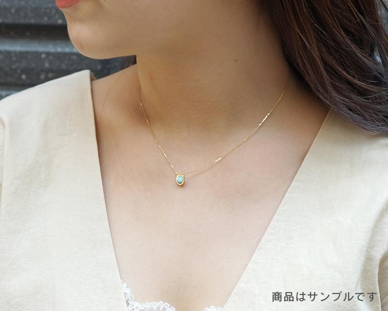 リビアングラス K18ネックレス 【理想・開花】 LUCAS  - Chou [送料無料]