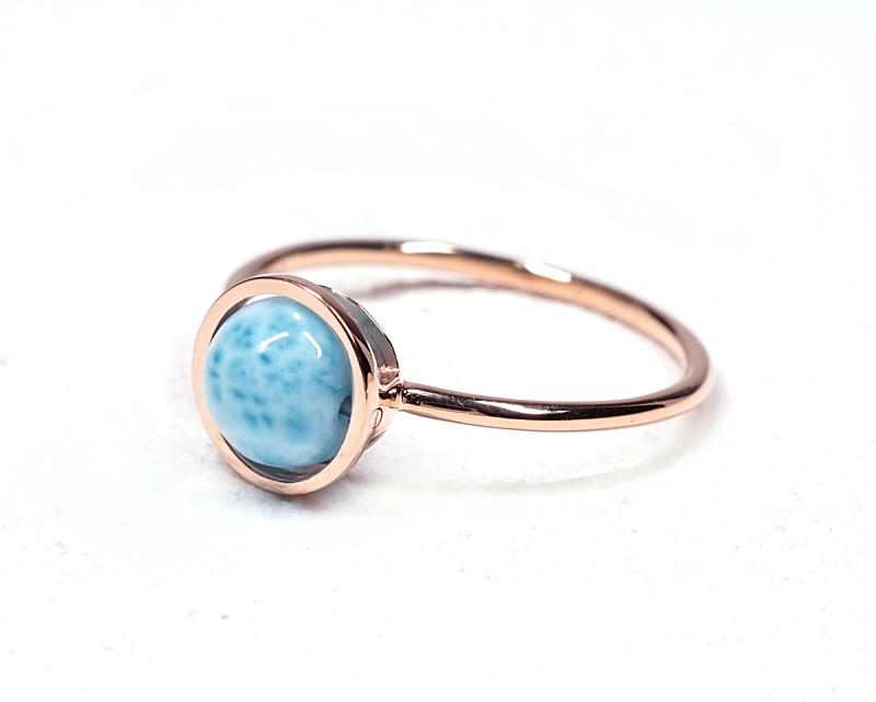 ラリマー K18リング・指輪 【平安・癒し】 petitnoel  - Chou [送料無料]