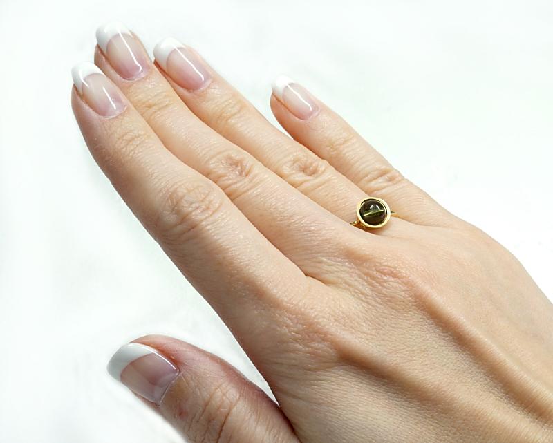 モルダバイト K18リング・指輪 【叡智と繋がる】 petitnoel  - Chou [送料無料]