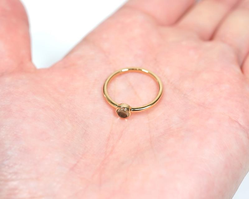 モルダバイト K18リング・指輪 【叡智と繋がる】 LUCAS  - Clochette [送料無料]