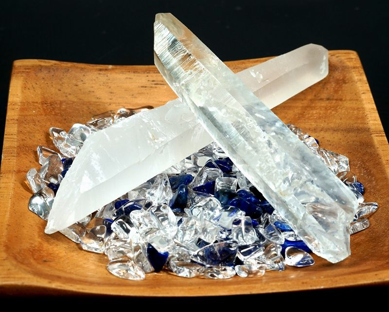 水晶ポイント & 選べるさざれ 浄化セット【浄化・エネルギーチャージに】