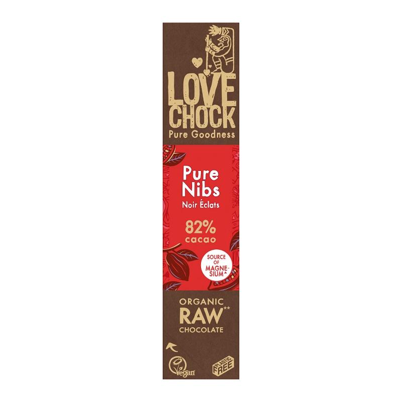 オーガニック ロー チョコレート(ピュア&ニブ82%)40g|LOVE CHOCK(ラブチョック)