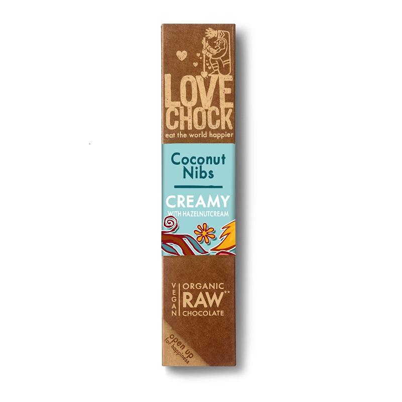 オーガニック ロー チョコレート(ココナッツ&ニブ)40g|LOVE CHOCK(ラブチョック)