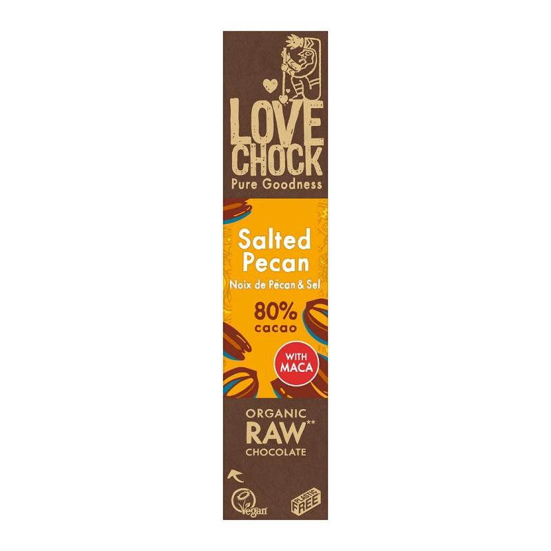 オーガニック ロー チョコレート(ソルティッドピーカン80%)40g|LOVE CHOCK(ラブチョック)