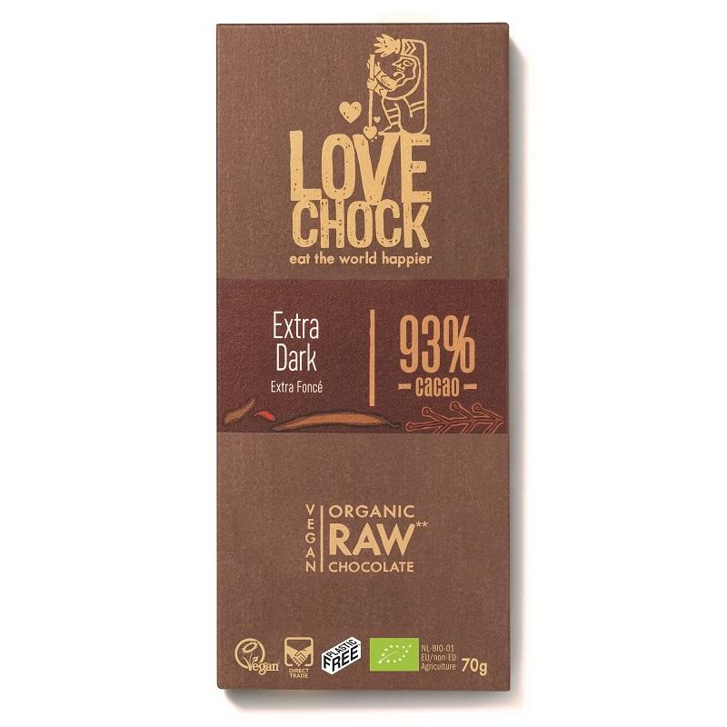 オーガニック ロー チョコレート(エクストラダーク93%)70g|LOVE CHOCK(ラブチョック)