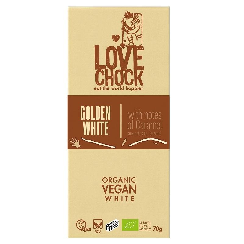 オーガニック ロー チョコレート(ゴールデンホワイト)70g|LOVE CHOCK(ラブチョック)
