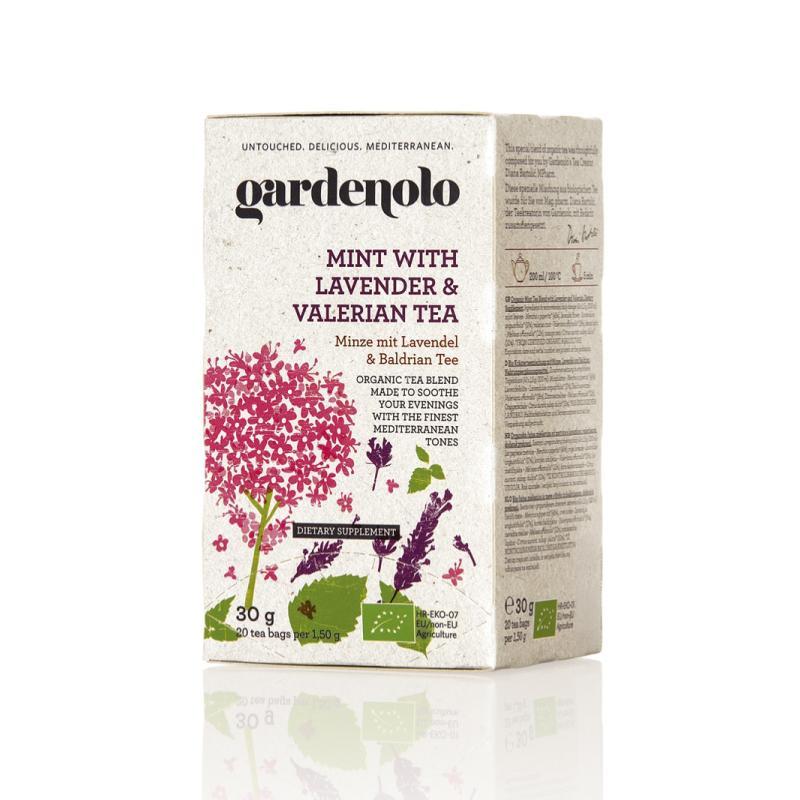 有機ミントティー(ラベンダー&バレリアン)30g(1.5g×20ティーバック)|gardenolo