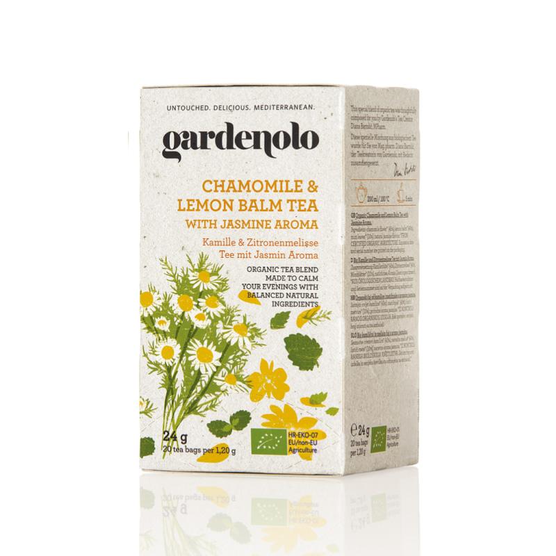 《アウトレット》有機カモミール&レモンバームティー24g(1.2g×20ティーバック)|Gardenolo