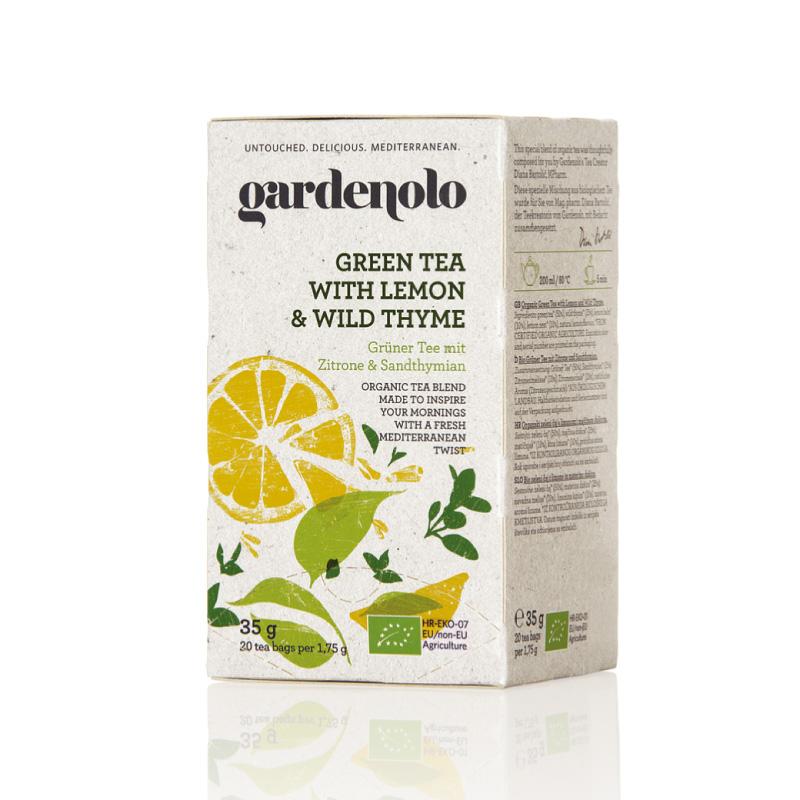 有機グリーンティー(レモン&タイム)35g(1.75g×20ティーバック)|gardenolo