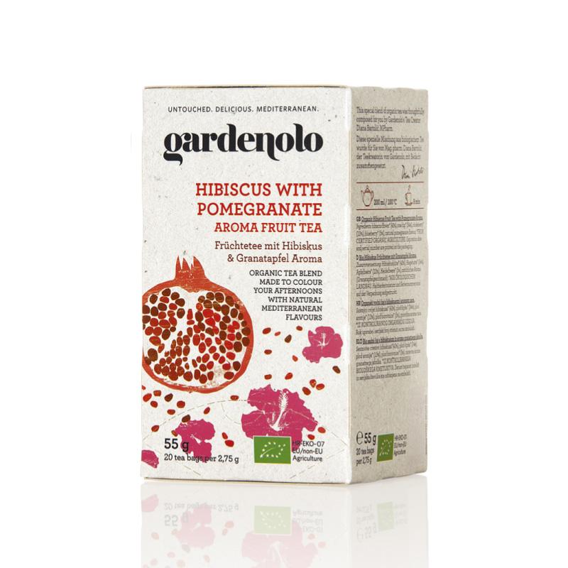 《アウトレット》有機ハイビスカス&ザクロティー55g(2.75g×20ティーバック) gardenolo