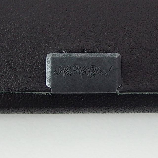 所作 shosa ボレロ ブラック×シルバー レザー カードケース