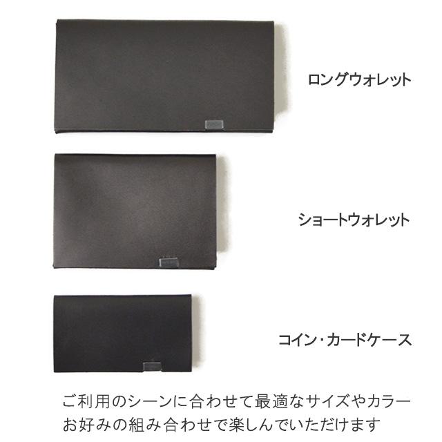 所作 shosa ポルカドット ブラック×ブラック レザー カードケース