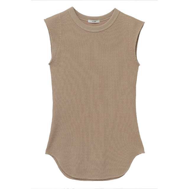 CLANE / クラネ NO SLEEVE THERMAL TOPS