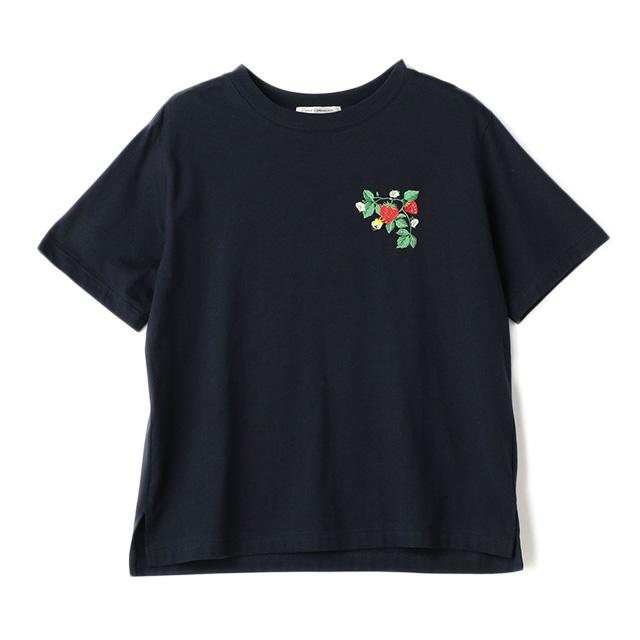 【CONVERSE TOKYO × MUVEIL】  イチゴ刺繍Tシャツ