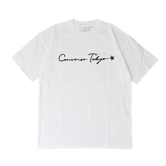 CONVERSE TOKYO  (コンバーストウキョウ) / 筆記体ロゴプリントTシャツ