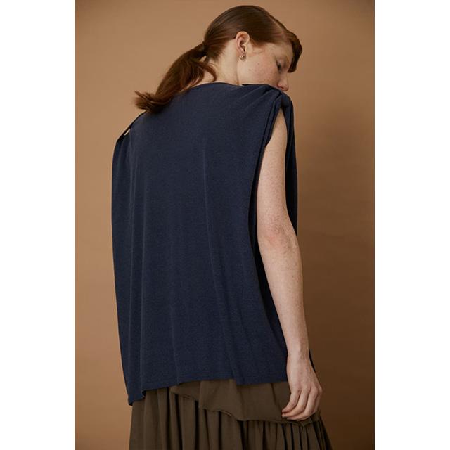 RIM.ARK / リムアーク  Shoulder lifting knit tops