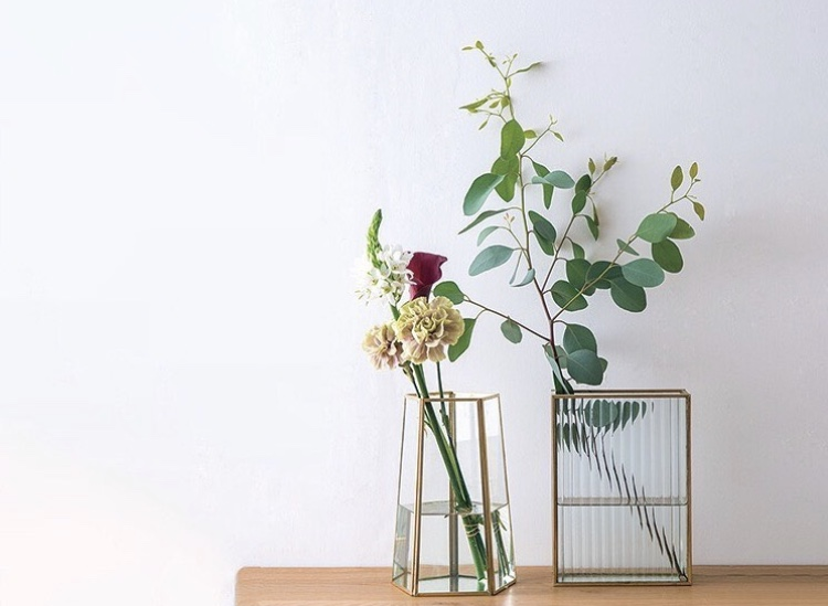 フレームフラワーベース ソリッド 花器 22581 【ポッシュリビング】
