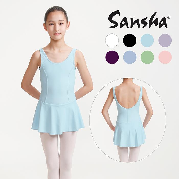 【サンシャ】G516M(FIONA)フィオナ タンクトップレオタード スカート付き