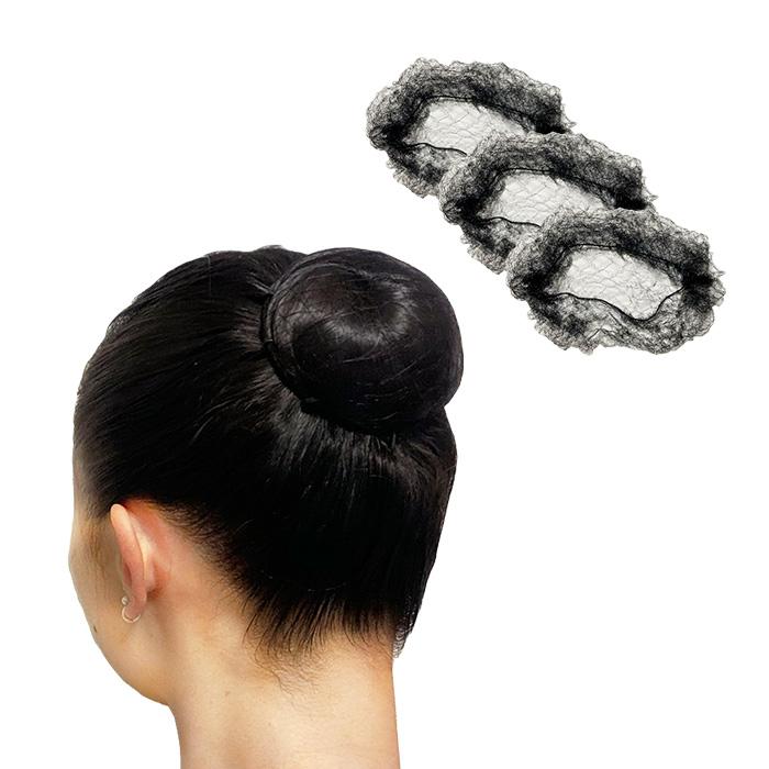 みえないヘアネット (ブラック3枚入り)極細糸で伸縮自在