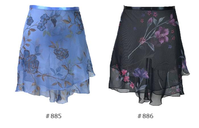 【10%オフ・在庫処分で交換返品不可】【Triena Wear】プリント巻きスカート52cm TR200FL