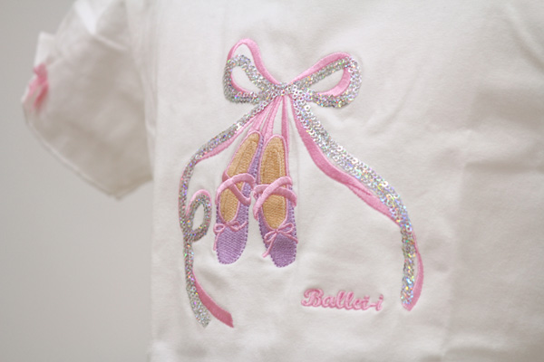 【Ballet-i】パフスリーブ Tシャツ