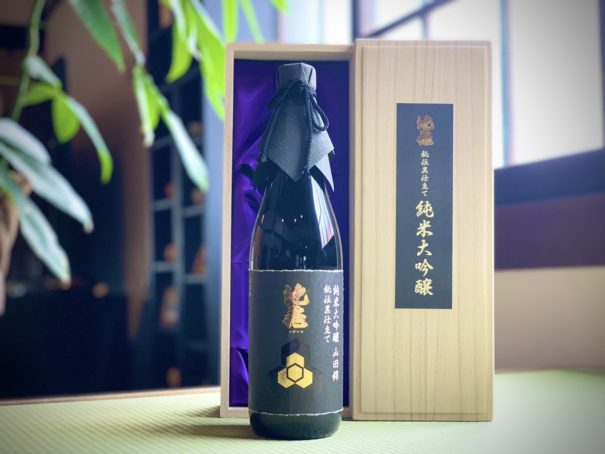 【池亀酒造】純米大吟醸  黒仕立て(木箱入り) 720ml