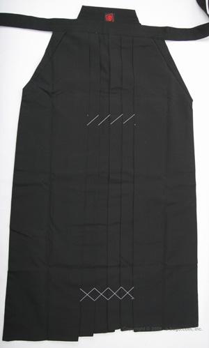 最高級ポリエステル袴(黒) サイズ21〜24号