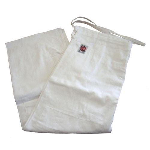 高級450G柔道衣用ズボン(白晒)