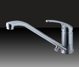 ミズタニバルブ キッチン用台付シングルレバー混合栓(寒) MKZ535MMDAHXE