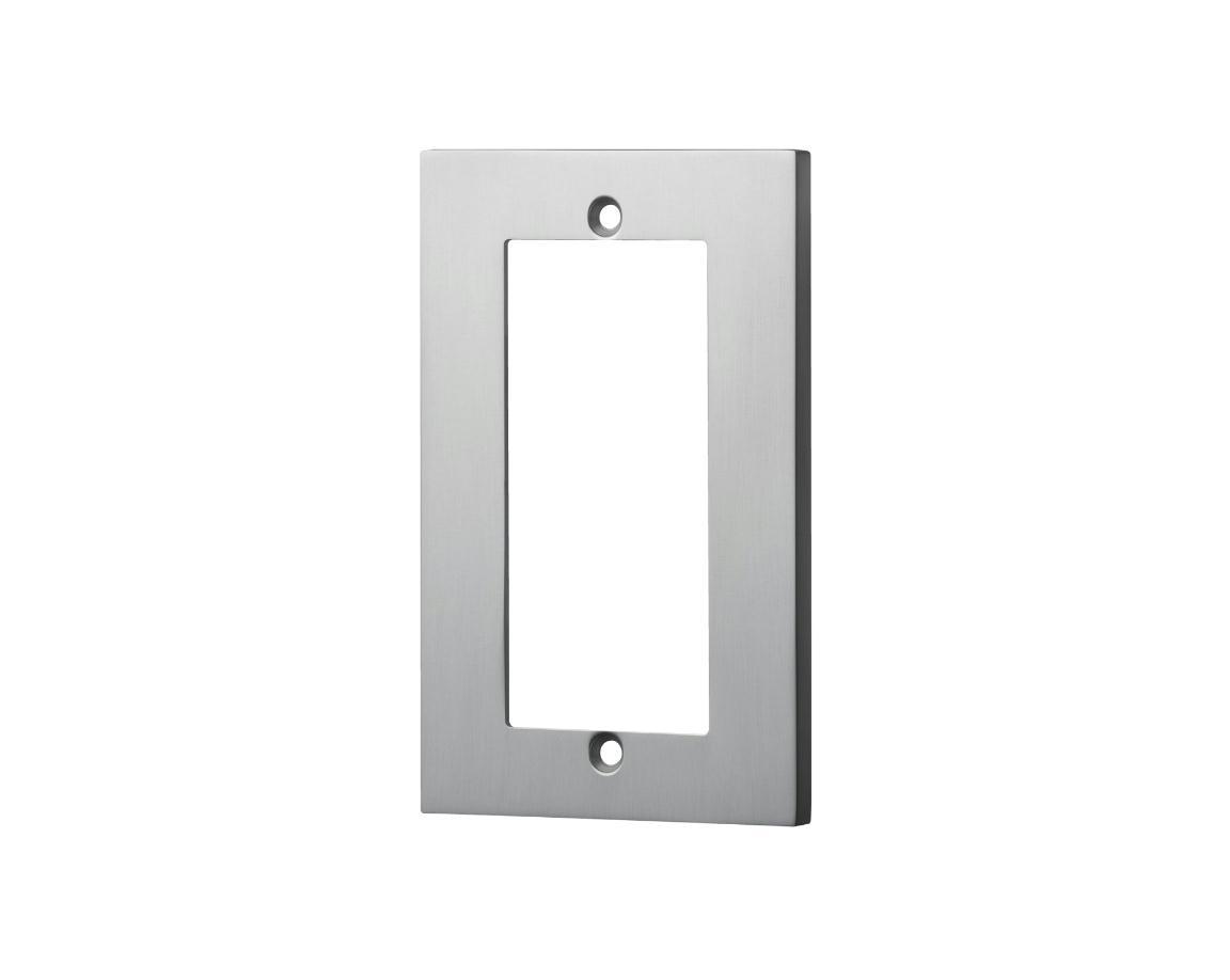 スイッチプレート(アルミ・シルバー) 60S 80×126×6.5