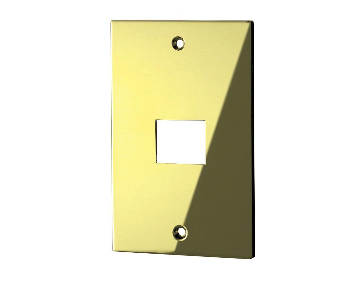 スイッチプレート(真鍮・鏡面ゴールド) 32S 80×126×6.5