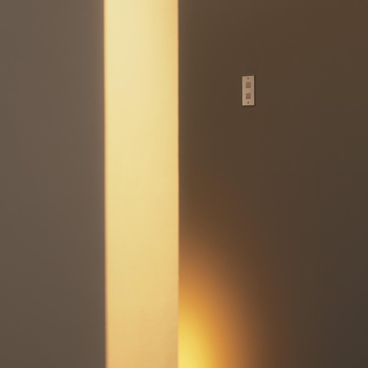 スイッチプレート(真鍮・鏡面シルバー) 33S 80×126×6.5
