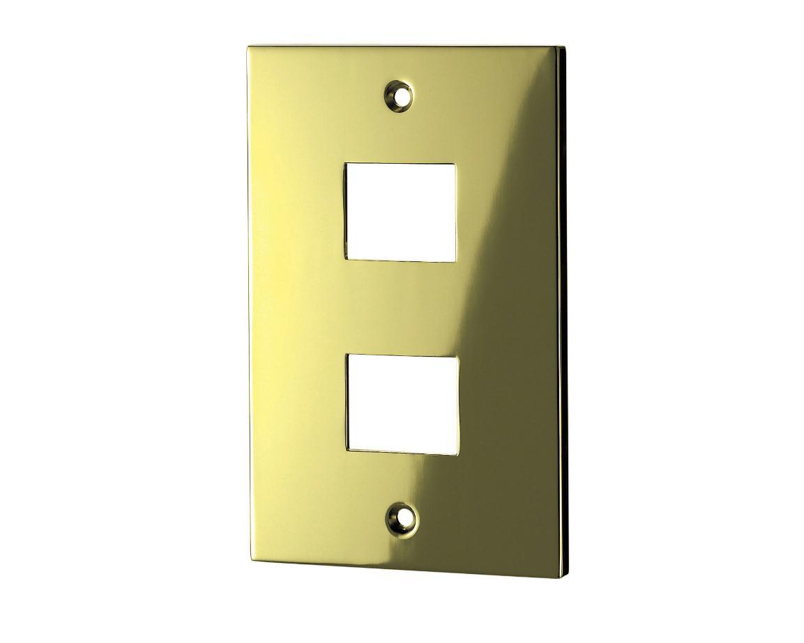 スイッチプレート(真鍮・鏡面ゴールド) 33S 80×126×6.5